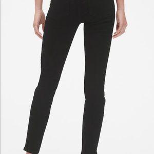 Gap True Skinny, Mid-rise, Black Jeans